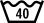 maximální teplota praní 40 °C - normální postup